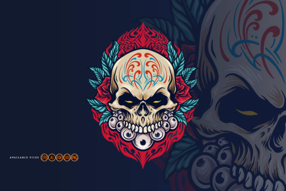 Print on Demand: Mexican Calavera Dia De Los Muertos Svg Graphic Illustrations By artgrarisstudio