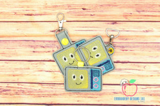 Microwave Oven ITH Keyfob Kitchen & Cooking Embroidery Design By embroiderydesigns101