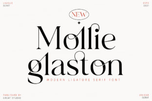 Print on Demand: Mollie Glaston Serif Schriftarten von Great Studio