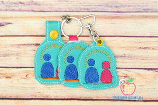 My Family Keyfob Keychain ITH Relatives Embroidery Design By embroiderydesigns101