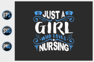 Print on Demand: Nursing  Typographic T Shirt Design. Graphic Print Templates By ajgortee