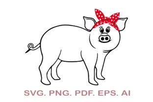 Pig with Bandana SVG Graphic Crafts By NarCreativeDesign