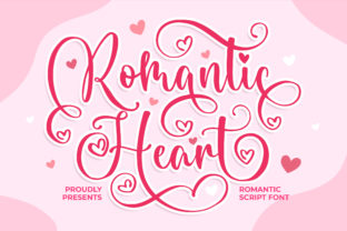 Print on Demand: Romantic Heart Script & Handwritten Font By Blankids Studio
