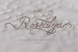 Print on Demand: Rosealya Script & Handwritten Font By indrotanwijoyo