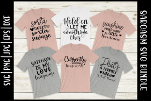 Print on Demand: Sarcasm Quotes Bundle Graphic Crafts By inlovewithkats