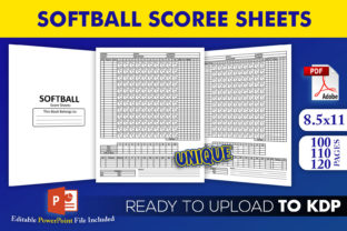Print on Demand: Softball Score Sheets Book KDP Interior Graphic KDP Interiors By Beast Designer