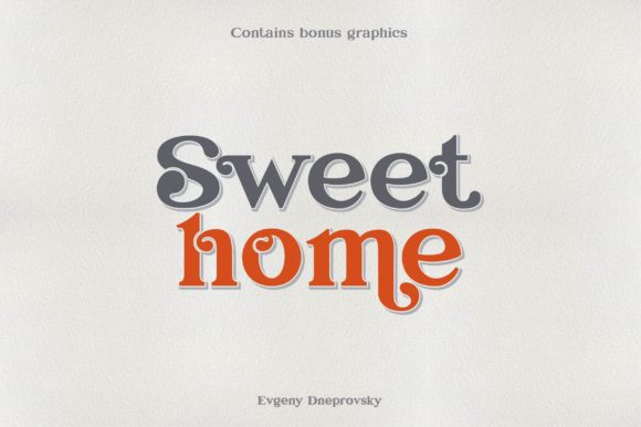 Print on Demand: Sweet Home Serif Font By dsfractal