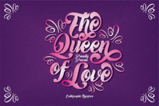 Print on Demand: The Queen of Love Script & Handwritten Font By creativework69