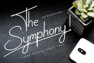 Print on Demand: The Symphony! Script & Handwritten Font By indrotanwijoyo