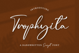 Print on Demand: Trophyita Script & Handwritten Font By rudhisasmito