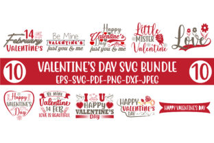 Print on Demand: VALENTINE'S DAY SVG BUNDLE Graphic Crafts By Design Store Bd.Net