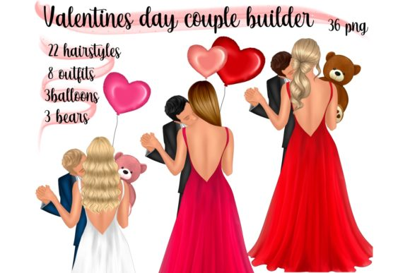 Valentines Day Couple Builder Graphic