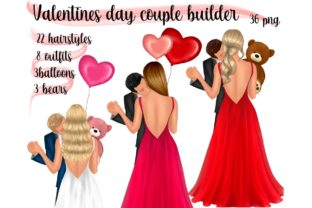 Valentines Day Couple Builder Graphic Illustrations By elevenbyme