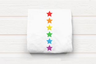 Vertical Row of Stars Shapes Embroidery Design By DesignedByGeeks
