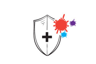 Print on Demand: Doodle Bacteria Protection Graphic Icons By GwensGraphicstudio