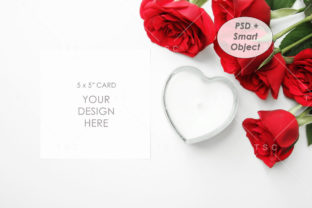 5″ X 5″ Card Mockup Graphic Product Mockups By thesundaychic