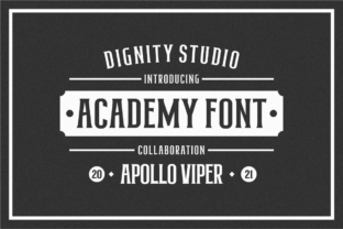 Print on Demand: Academy Sans Serif Font By dignity.std