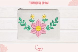 Ava Flowers Single Flowers & Plants Embroidery Design By carasembor