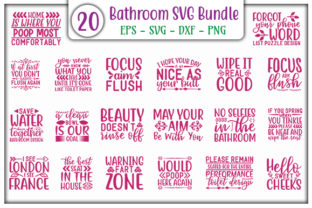 Print on Demand: Bathroom Design Bundle Graphic Print Templates By GraphicsBooth
