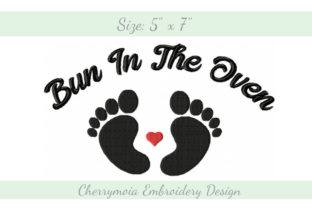 Bun in the Oven Nursery Embroidery Design By CherrymoiaEmbroidery