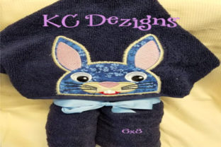 Bunny Hooded Towel Applique Boys & Girls Embroidery Design By karen50