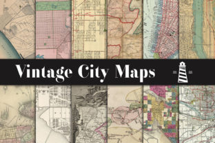 Print on Demand: City Maps Backgrounds Graphic Patterns By northseastudio