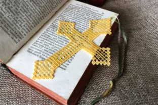Cross Bookmark Baptism Embroidery Design By EmbDesigns