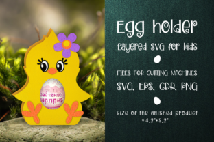 Print on Demand: Cute Chick -Chocolate Egg Holder SVG Graphic 3D SVG By Olga Belova