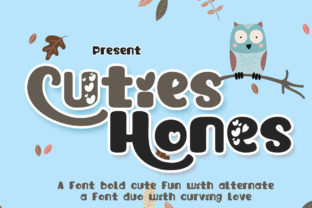 Print on Demand: Cuties Hones Display Font By edwar.sp111