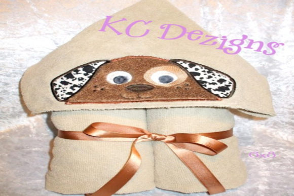 Dog Hooded Towel Applique Boys & Girls Embroidery Design By karen50