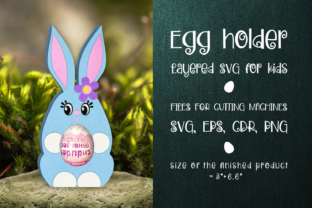 Print on Demand: Easter Bunny - Chocolate Egg Holder SVG Graphic 3D SVG By Olga Belova