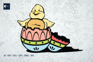 Print on Demand: Easter Chicks That Come out of Egg Shell Graphic Illustrations By Na Punya Studio