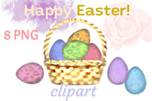 Print on Demand: Easter Clipart Abstract Eggs Graphic Illustrations By Iva Art