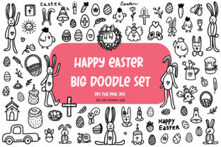Print on Demand: Easter Doodle Set. Easter SVG. Cricut Graphic Illustrations By Art's and Patterns