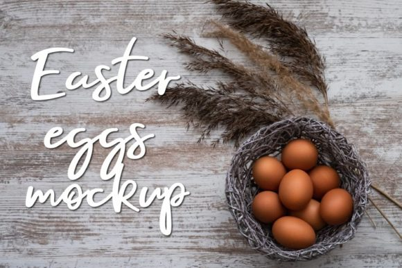 Print on Demand: Easter Eggs Mockup. Rustic Style Graphic Holidays By Art's and Patterns