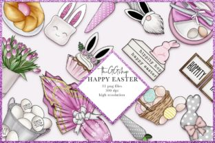 Print on Demand: Easter Planner Digital Clipart Set Graphic Illustrations By TheGGShop