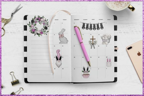 Easter Planner Digital Clipart Set Graphic Preview