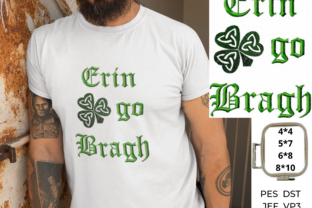 Erin Go Bragh St Patrick's Day Embroidery Design By EmbDesigns