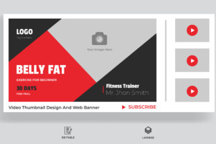 Fitness Thumbnail Design Graphic Web Elements By sohagmiah_0