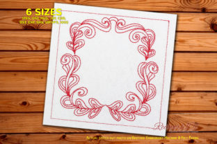Floral Border Design Paisley Embroidery Design By Redwork101