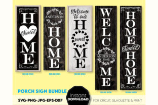 Front Porch Decor Bundle Welcome Signs Graphic Crafts By March Design Studio