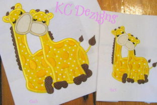 Giraffe Love Applique Design Baby Animals Embroidery Design By karen50