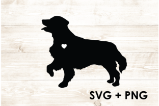 Print on Demand: Golden Retriever Dog Silhouette SVG PNG Graphic Print Templates By Too Sweet Inc
