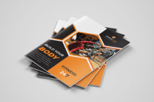 Print on Demand: Gym Fitness Brochure Template Graphic Print Templates By gstudiovect