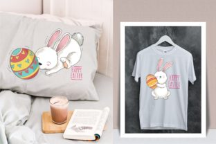 Happy Easter! Easter Bunny & Easter Egg Graphic Illustrations By onoborgol
