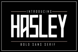 Print on Demand: Hasley Sans Serif Font By Skiiller Studio