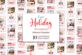 Print on Demand: Holiday Shenanigans Pinterest Video Pins Graphic Presentation Templates By SnapyBiz