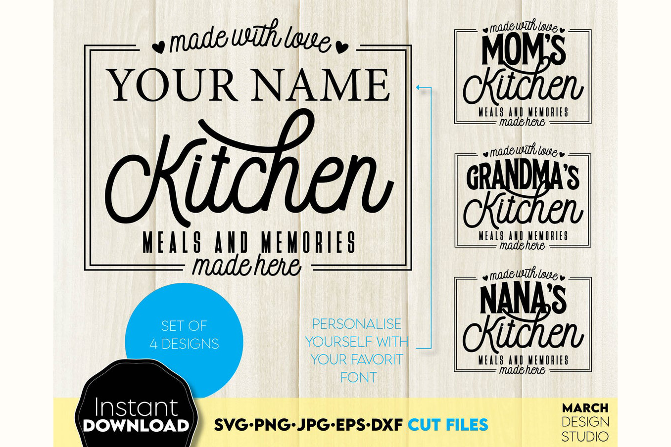 Kitchen Quotes SVG File