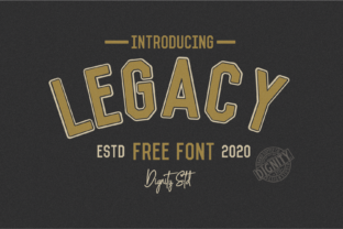 Print on Demand: Legacy Sans Serif Font By dignity.std
