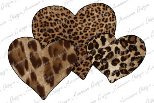 Print on Demand: Leopard Heart Sublimation Valentine Graphic Print Templates By Arinnnnn Design